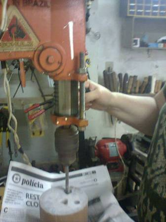 Drilling tests with fixed drill.