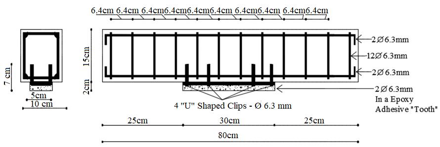 Details of the strengthening of Beam E5.