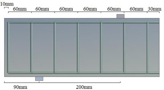 Modeling of the transversal reinforcement (stirrups) of beam E1.