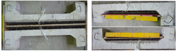 Extensometers installed in the concrete (PTS; PTSR; PCS; PCSR respectively).