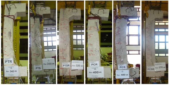 Columns after failure.