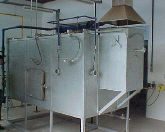 Furnace used in the tests