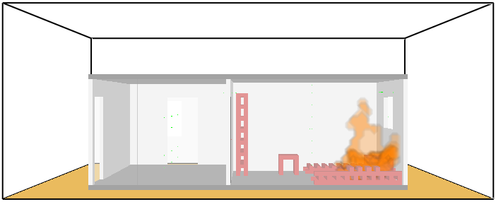 FDS computational simulation - Fire propagation.